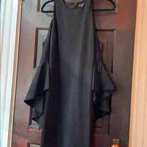 Open shoulder Black Dress